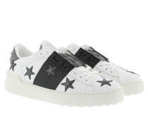 Open Star Sneakers Calf Black/White