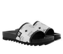 Schuhe W Visetos Slide Silver silber