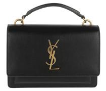 Wallet On Chain Monogramme Leather Black Tasche