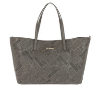 Borsa Embossed Pu Shopping Bag Grigio