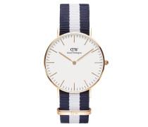 Uhr Classic Glasgow 36 mm Blue White