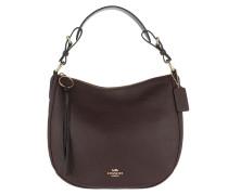 Hobo Bag Polished Leather Sutton Hobo Oxblood braun