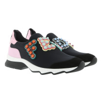 Logo Embellished Slip On Sneakers Black/Multi Sneakers