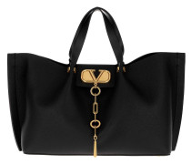 Tote V Shopping Bag Nero schwarz