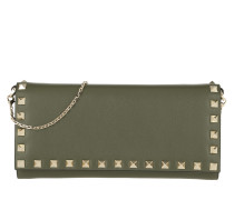 Rockstud Picolla Vitello Chain Wallet Military Green