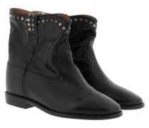 Cluster Wedge Studded Boots Black Schuhe