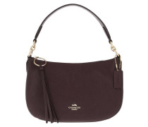 Satchel Bag Polished Pebble Leather Sutton Crossbody Oxblood