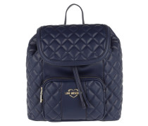 Rucksack Quilted Nappa Backpack Blue marine