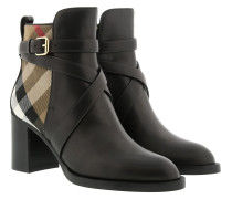 House Check Ankle Boots Black Schuhe