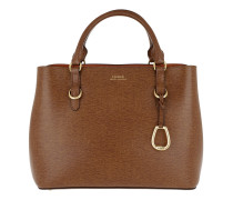 Bennington Satchel Bag Medium Lauren Tan/Orange Tote