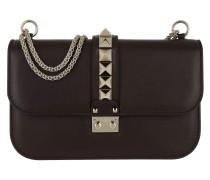 Rockstud Lock Crossbody Bag Medium Leather Deep Rubin Tasche