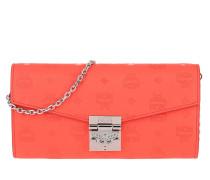 Umhängetasche Leather Flap Millie Crossbody Medium Hot Coral