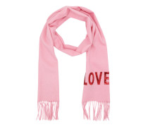 Embroidered Love Scarf Pink Accessoire