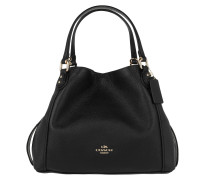 Tote Polished Pebble Leather Edie 28 Shoulder Bag Black schwarz