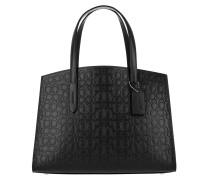 Tote Signature Leather Charlie Handle Bag Black schwarz