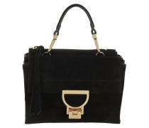 Umhängetasche Arlettis Suede Crossbody Bag Small Noir schwarz