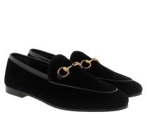 Loafers Leather Velvet Black Schuhe