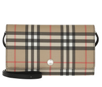 Umhängetasche Hannah Wallet On Chain Vintage Check Black beige