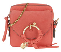 Umhängetasche Joan Camera Bag Leather Wooden Pink pink