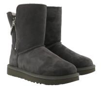 Boots W Classic Short Sparkle Zip Charcoal grau