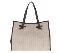 Tote Marcella Shoulder Bag Naturale Arancio Fluo