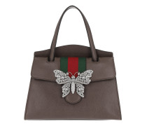 GucciTotem Medium Top Handle Bag Mocca Tote