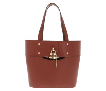 Tote Aby Bag Leather Sepia Brown