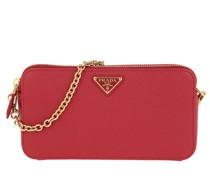 Umhängetasche Mini Shoulder Bag Saffiano Leather Fuoco rot