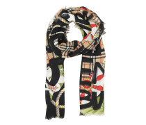 Graffiti Archive Print Scarf Antique Yellow Accessoire