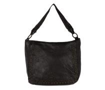 Shoulder Bag Cow Eyelets Nero Tasche