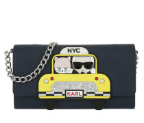 Karl NYC Taxi Chain Wallet Night Blue