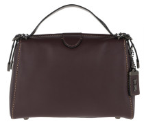 Tote Glovetan Leather Laural Frame Bag Oxblood rot