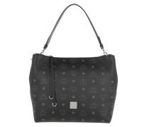 Klara Visetos Shoulder Medium Black Hobo Bag