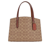Tote Coated Canvas Signature Charlie Carryall Red braun