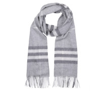 Giant Check Cashmere Scarf Pale Grey Schal