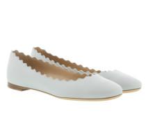 Lauren Ballerina Flat Leather Airy Grey Ballerinas