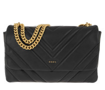 Umhängetasche Vivian Double Shoulder Bag Black Gold schwarz