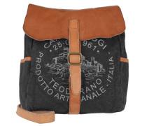 Shoulder Bag Textil/Cow Blu+Naturale+St.Grigia
