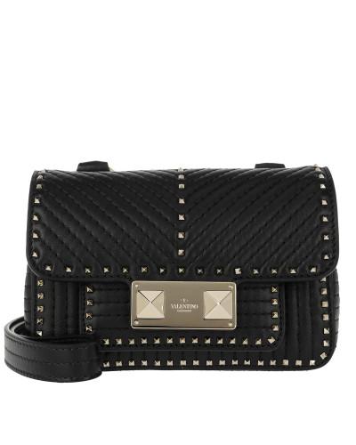 Rockstuck Studded Shoulder Bag Leather Black Tasche