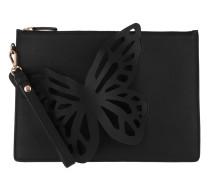 Leather Butterfly Pouchette Black Pochette