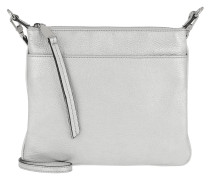 Umhängetasche Calf Shimmer Handle Bag Silver silber