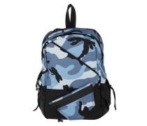 Sporty Nylon Backpack Carmouflage Light Blue Rucksack blau
