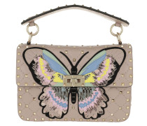 Umhängetasche Rockstud Spike Crossbody Bag Butterfly Leather Poudre rosa