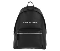 Everyday Backpack Leather Black Rucksack