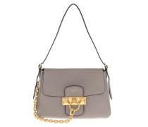 Satchel Bag Small Keele Handle Bag Solid Grey grau