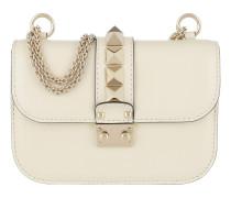 Rockstud Lock Shoulder Bag Small Ivory Tasche