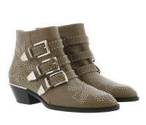 Susanna Leather Studs Boots Maple Brown Schuhe