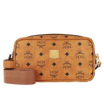 Necessaire Visetos Original Wash Bag With Strap Cognac