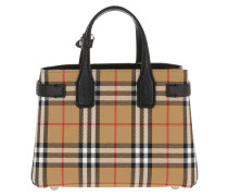 New Banner Small House Check Tote Black Tote