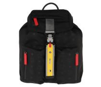 Rucksack Resnick Monogrammed Nylon Backpack Small Black schwarz